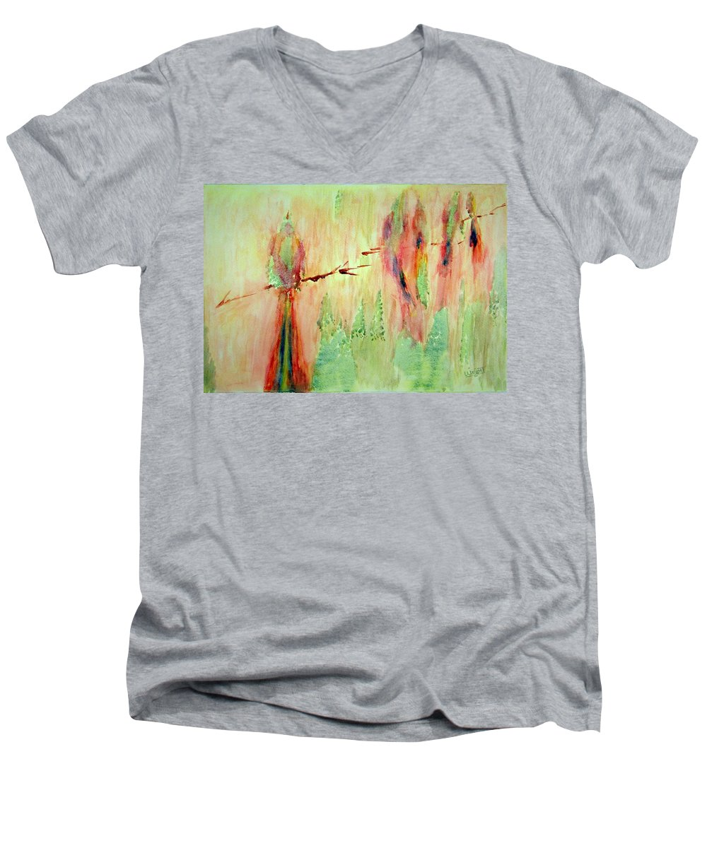 Abstract Art Men's V-Neck T-Shirt featuring the painting This Must Be A Dream by Larry Wright