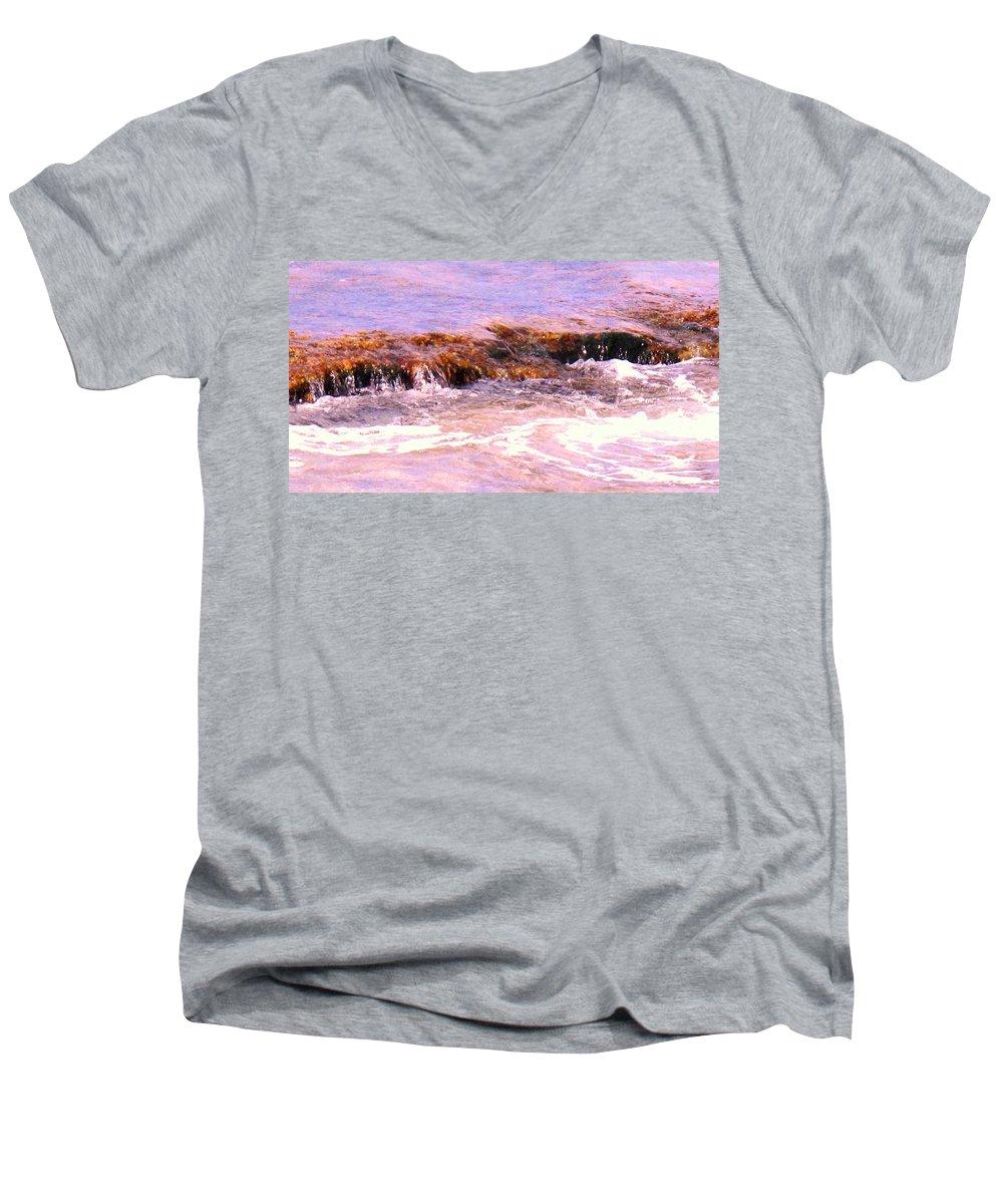 Tide Men's V-Neck T-Shirt featuring the photograph Tidal Pool by Ian MacDonald