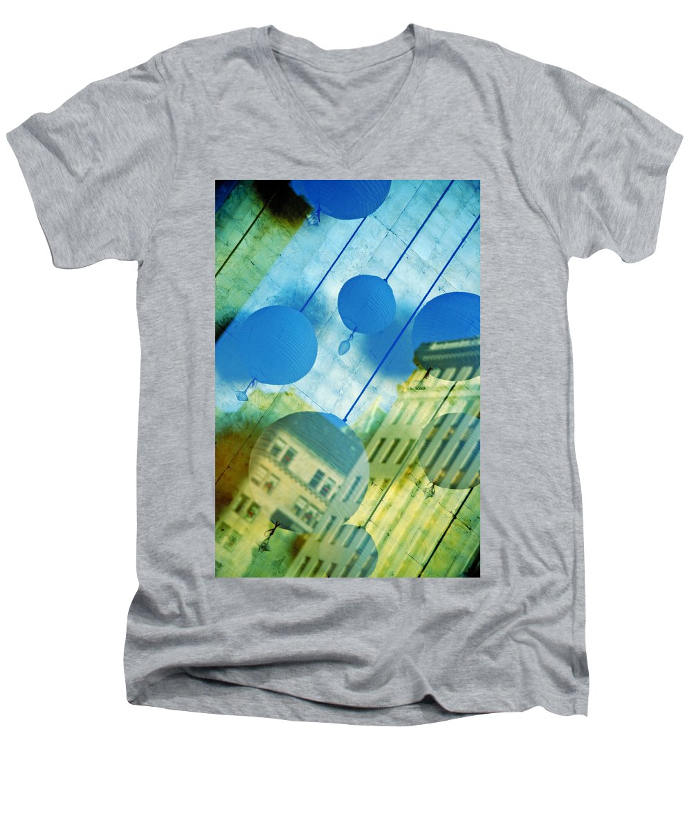 New York Men's V-Neck T-Shirt featuring the photograph Tiffanys by Skip Hunt