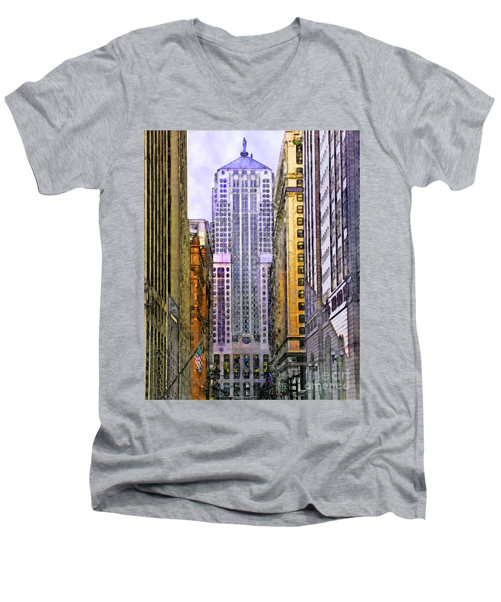 Trading Places Men's V-Neck T-Shirt featuring the digital art Trading Places by John Beck