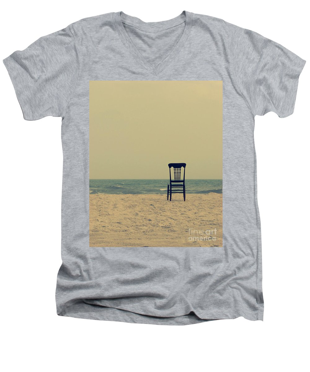 Ocean Men's V-Neck T-Shirt featuring the photograph Until Tomorrow And Tomorrow And Tomorrow by Dana DiPasquale