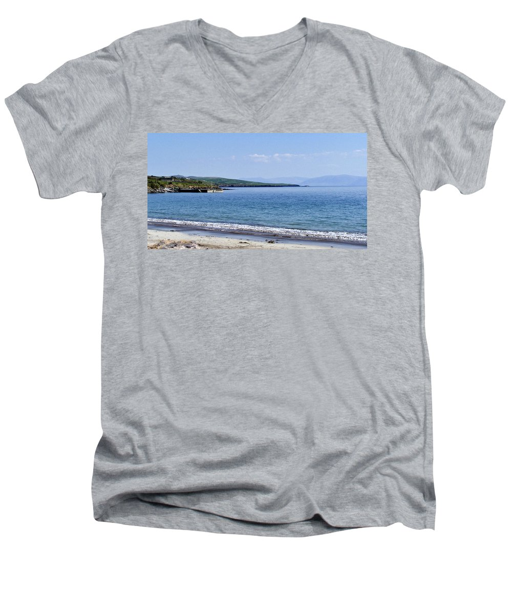 Irish Men's V-Neck T-Shirt featuring the photograph Ventry Harbor On The Dingle Peninsula Ireland by Teresa Mucha