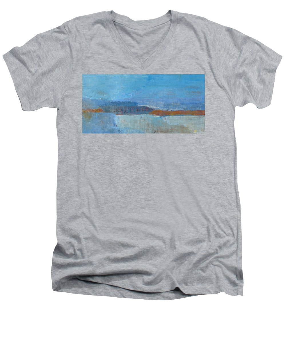 Abstract Men's V-Neck T-Shirt featuring the painting Vision by Habib Ayat