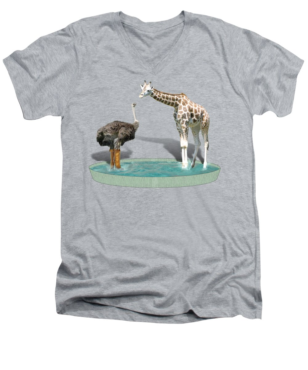 Ostrich V-Neck T-Shirts
