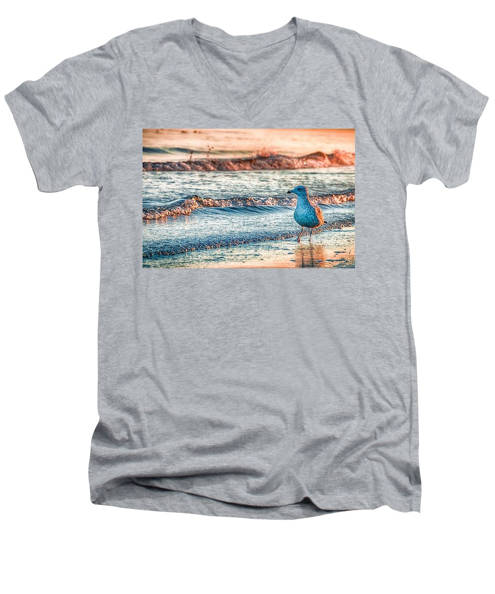 Beach V-Neck T-Shirts