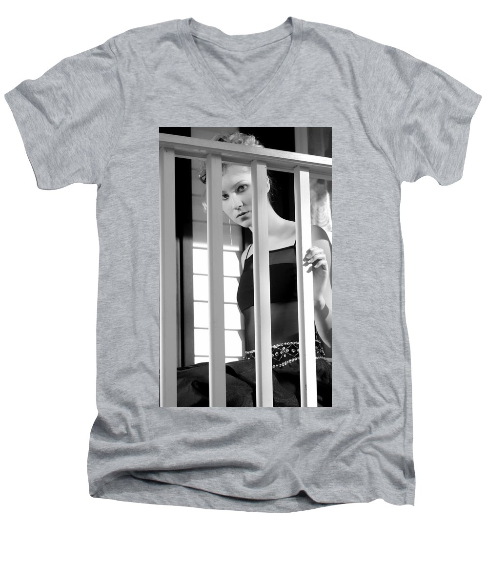Clay Men's V-Neck T-Shirt featuring the photograph Watching by Clayton Bruster