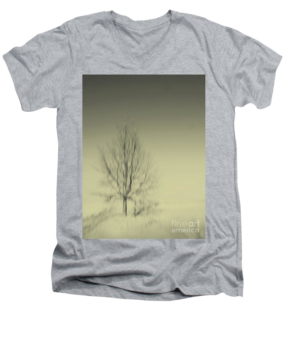 Dipasquale Men's V-Neck T-Shirt featuring the photograph When You Wake Up I Will Have Gone by Dana DiPasquale