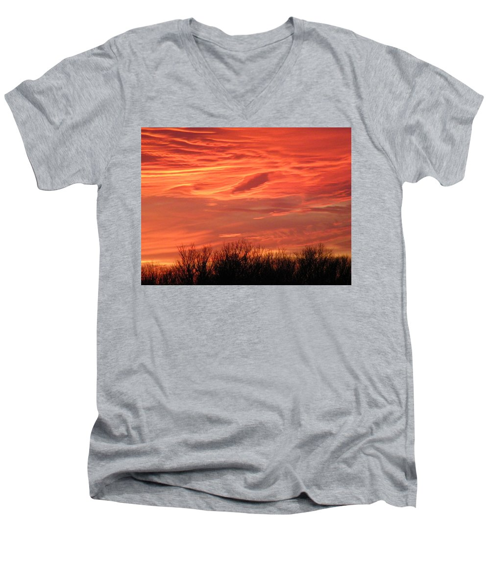 Sunset Men's V-Neck T-Shirt featuring the photograph Who Needs Jupiter by Gale Cochran-Smith