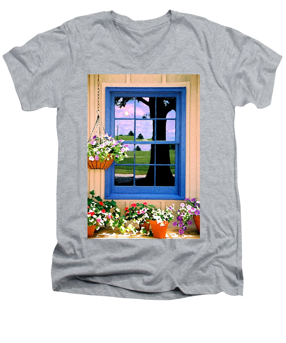 Still Life Men's V-Neck T-Shirt featuring the photograph Window by Steve Karol