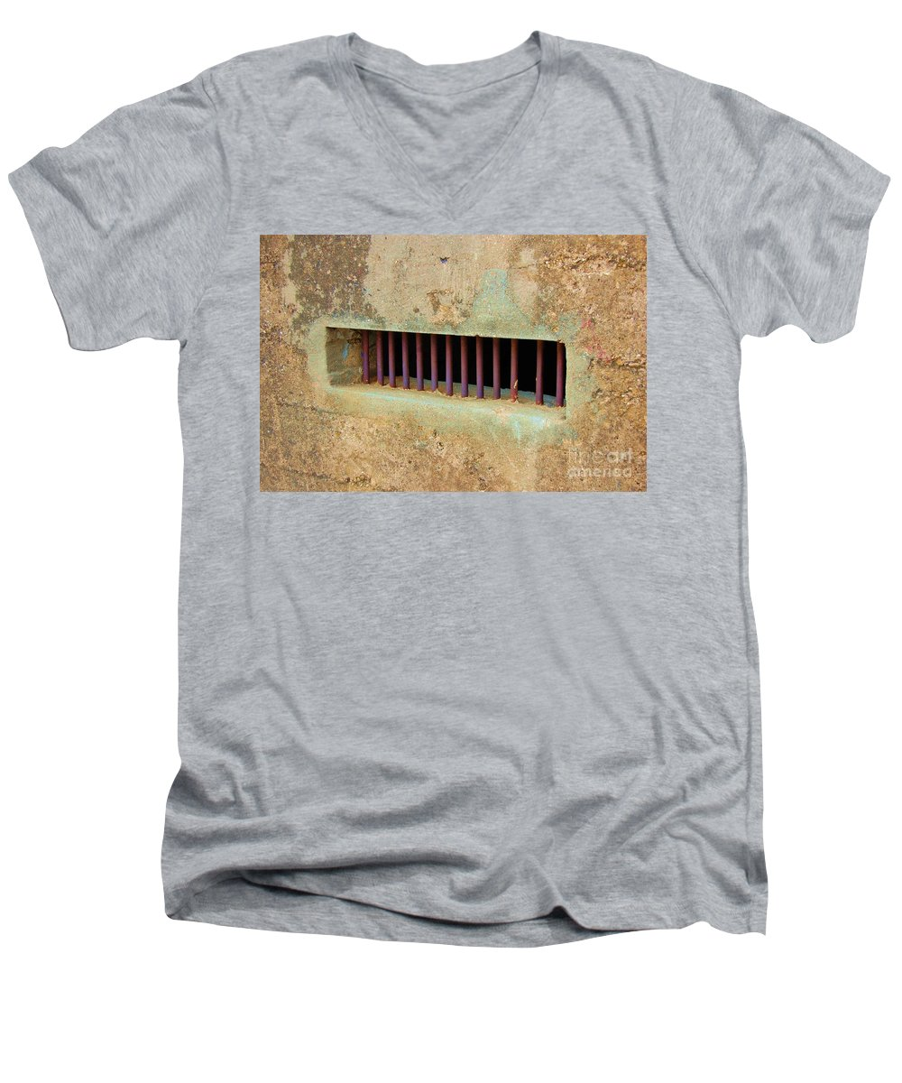 Jail Men's V-Neck T-Shirt featuring the photograph Window To The World by Debbi Granruth