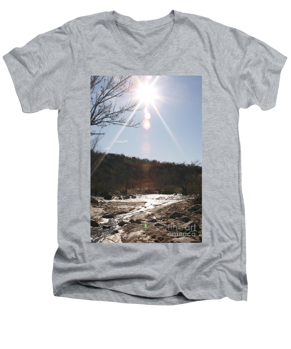 Winter Men's V-Neck T-Shirt featuring the photograph Winter Light by Nadine Rippelmeyer