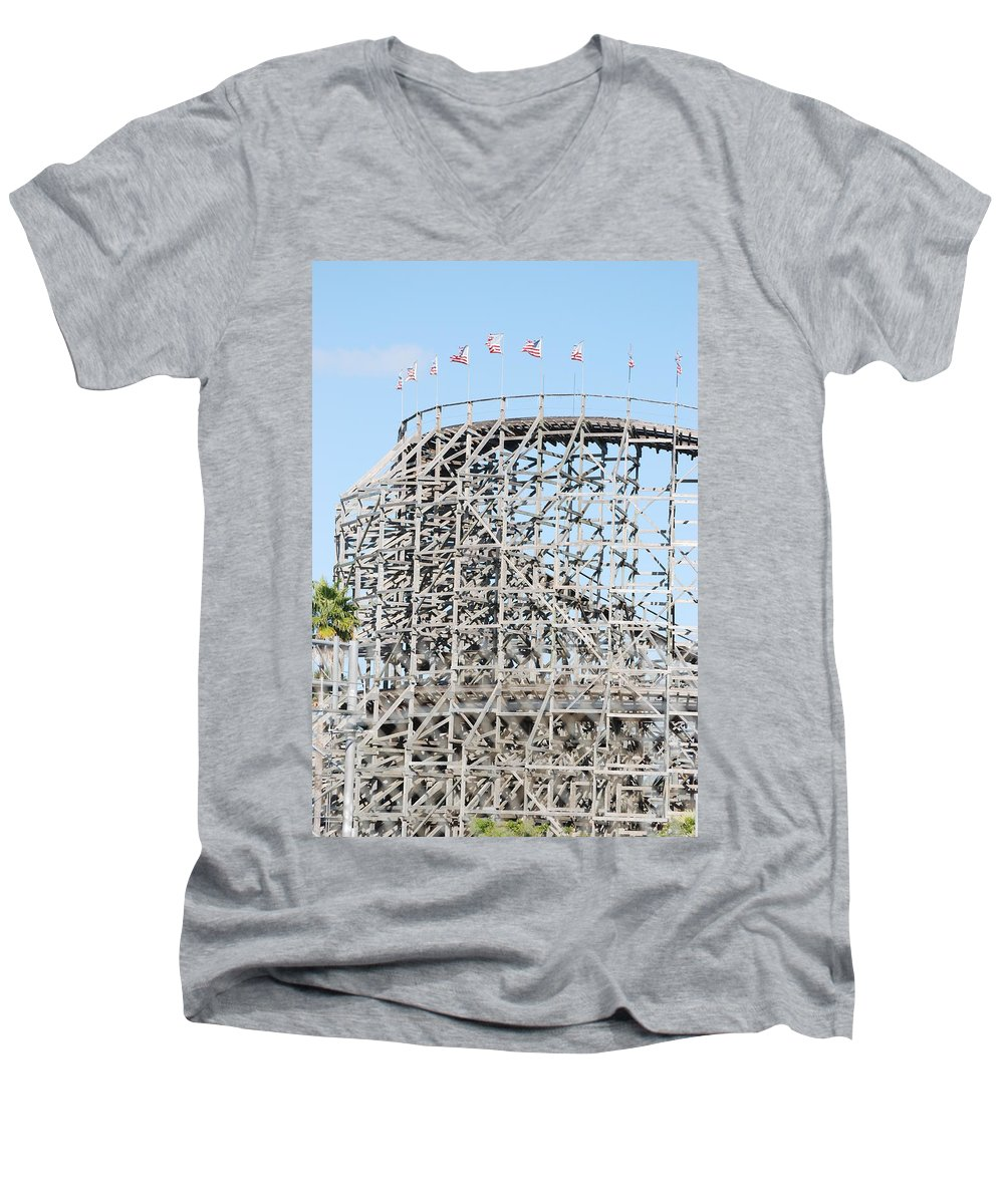 Pop Art Men's V-Neck T-Shirt featuring the photograph Wooden Coaster by Rob Hans