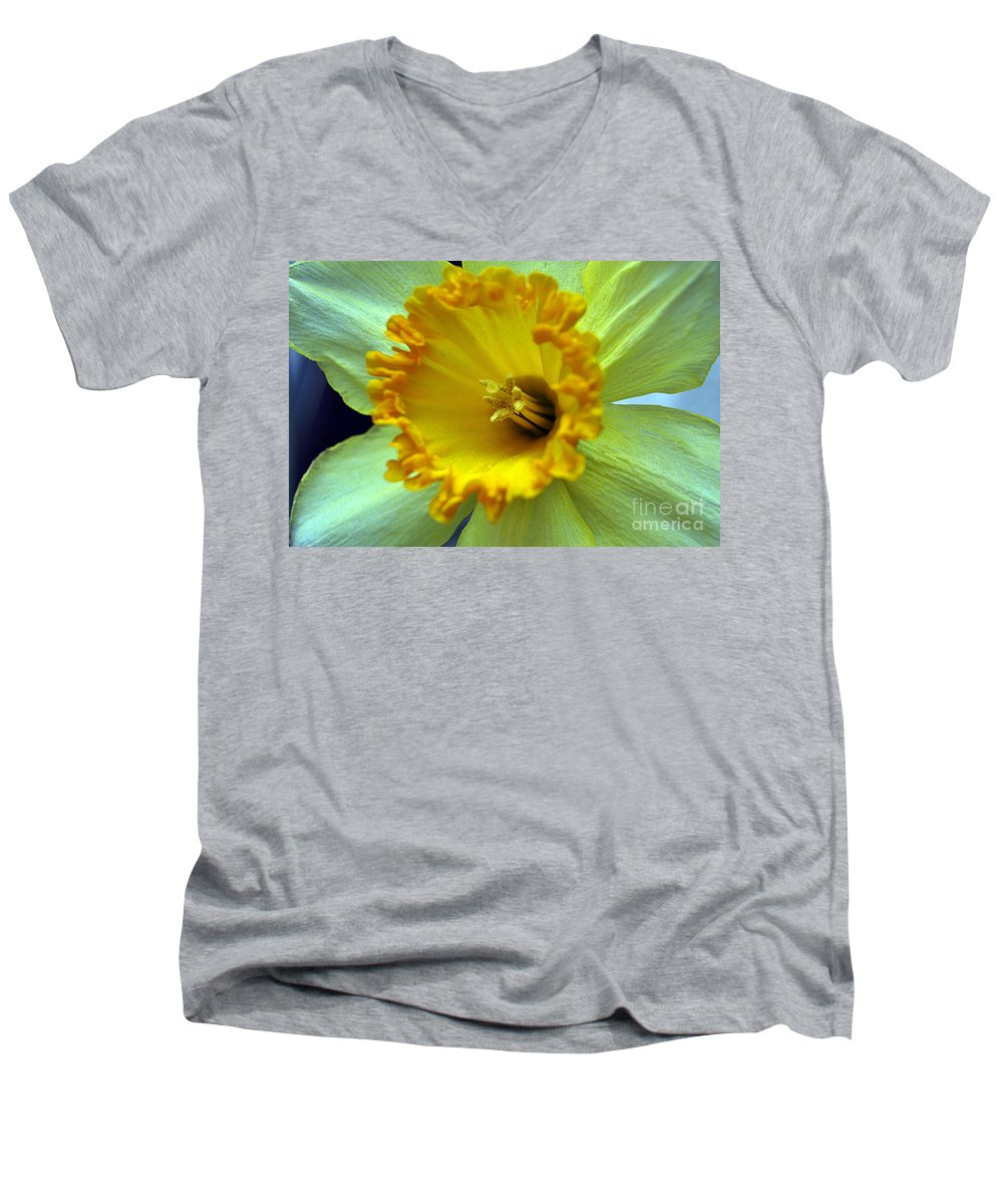 Clay Men's V-Neck T-Shirt featuring the photograph Yellow Floral by Clayton Bruster