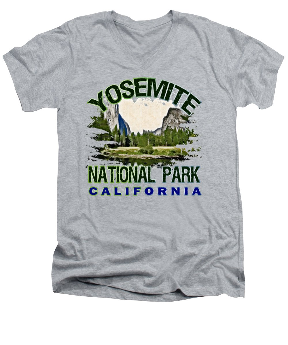 Yosemite National Park V-Neck T-Shirts