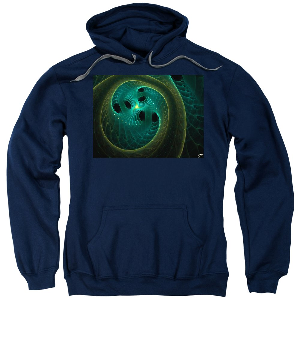 Still Life Sweatshirt featuring the painting 0009 by I J T Son Of Jesus