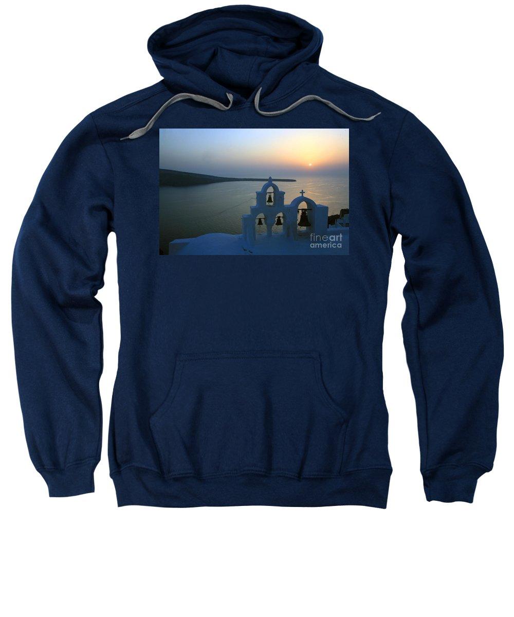 Santorini Sweatshirt featuring the photograph 0210 Oia Sunset by Steve Sturgill