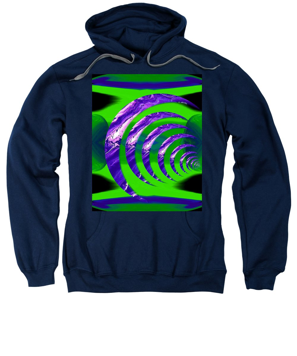 Original Sweatshirt featuring the painting Abstract 123 by J D Owen