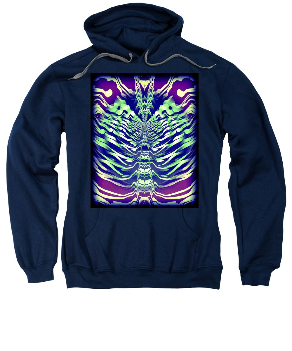 Original Sweatshirt featuring the painting Abstract 140 by J D Owen