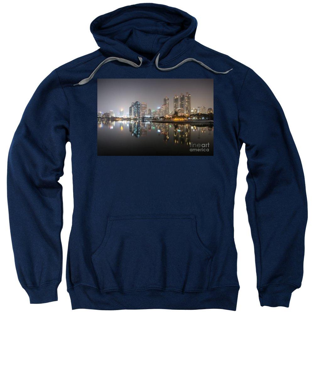 Architecture Sweatshirt featuring the photograph Bangkok By Night by Matteo Colombo