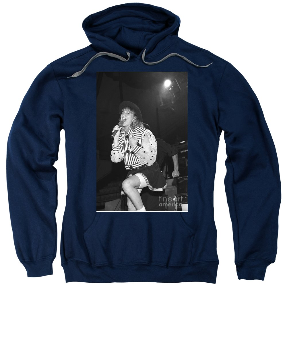Singer Sweatshirt featuring the photograph Debbie Gibson by Concert Photos