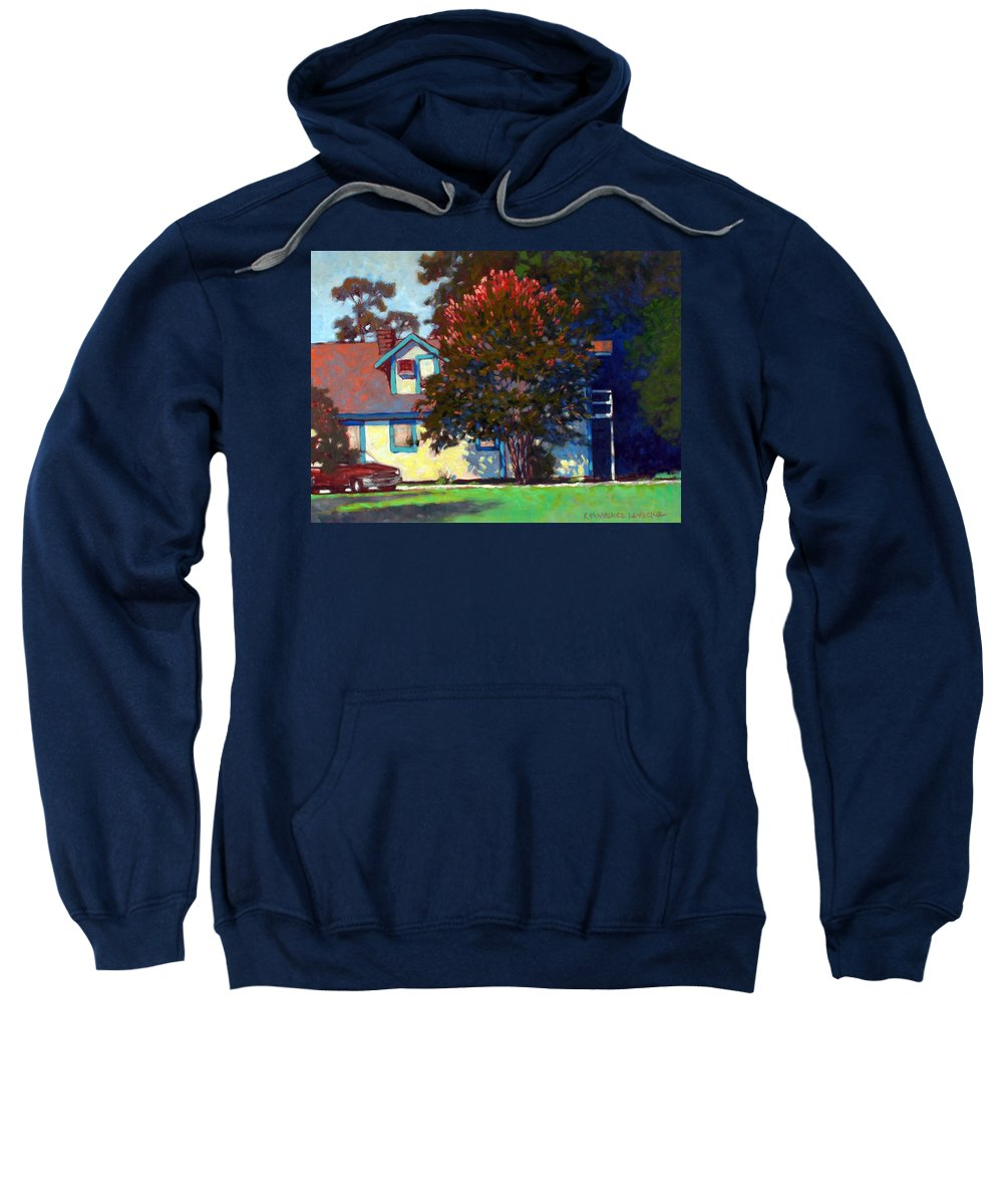 Landscape Sweatshirt featuring the painting Doug's Apartment by Kevin Lawrence Leveque