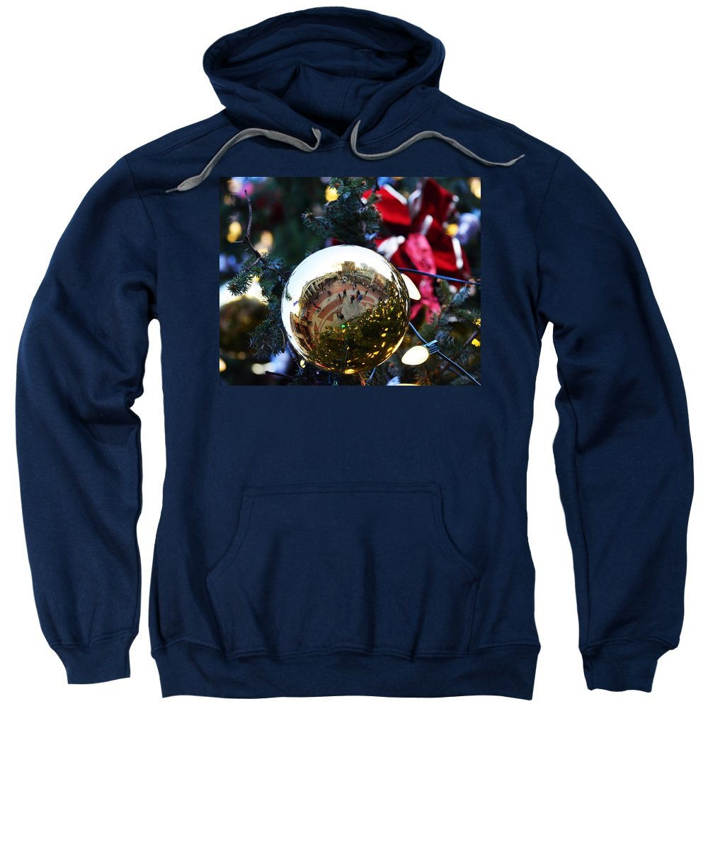Faneuil Hall Sweatshirt featuring the photograph Faneuil Hall Christmas Tree Ornament by Toby McGuire