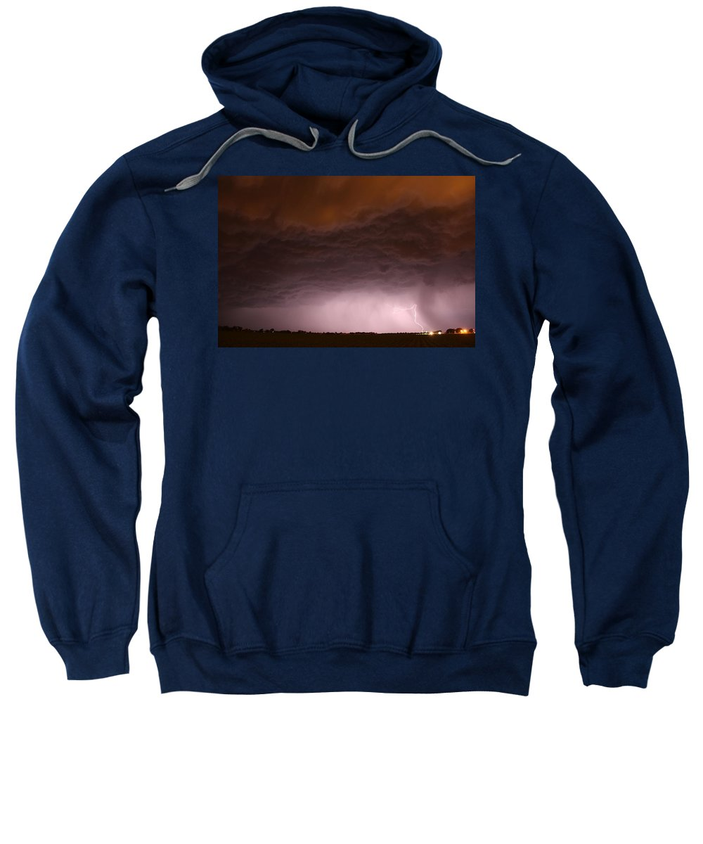 Stormscape Sweatshirt featuring the photograph In The Belly Of The Beast by NebraskaSC
