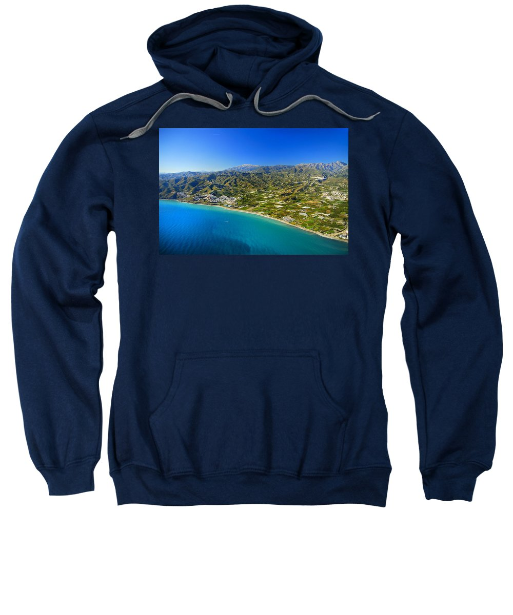 Air Sweatshirt featuring the photograph Mediterranean Sea From The Air by Guido Montanes Castillo