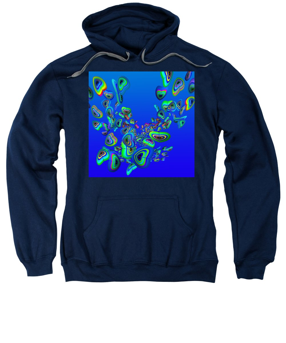 Aquarium Art Sweatshirt featuring the painting Rainbow Blue by Charles Stuart
