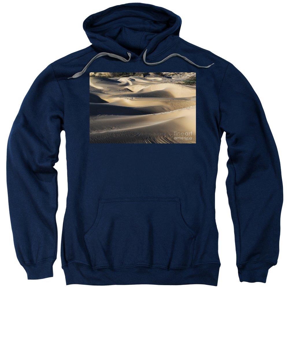 Oceano Sand Dunes Sweatshirt featuring the photograph Sunrise At Oceano Sand Dunes by Yefim Bam
