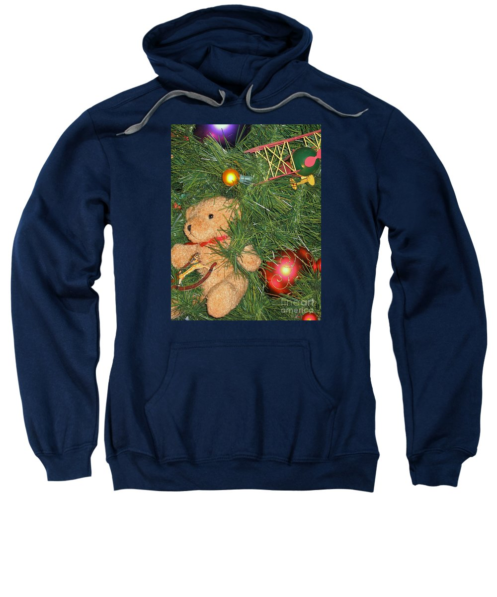Christmas Sweatshirt featuring the photograph Tree Of Toys by Ann Horn
