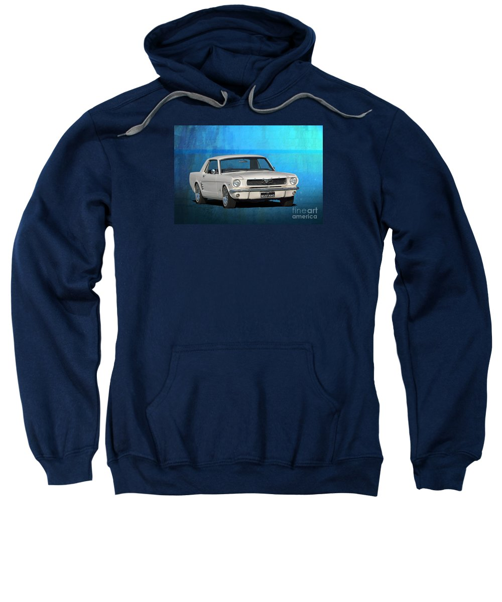 Ford Sweatshirt featuring the photograph 1966 Mustang by Stuart Row