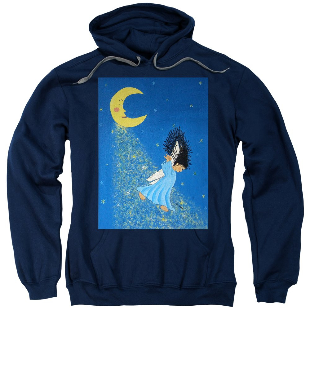 Allegretto Art Sweatshirt featuring the painting Dancing On Moonbeams by Pamela Allegretto