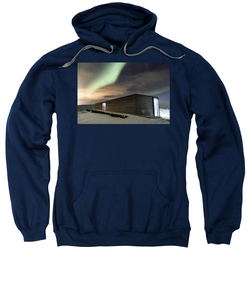 Northern Sweatshirt featuring the photograph Northern Lights Iceland by Gunnar Orn Arnason