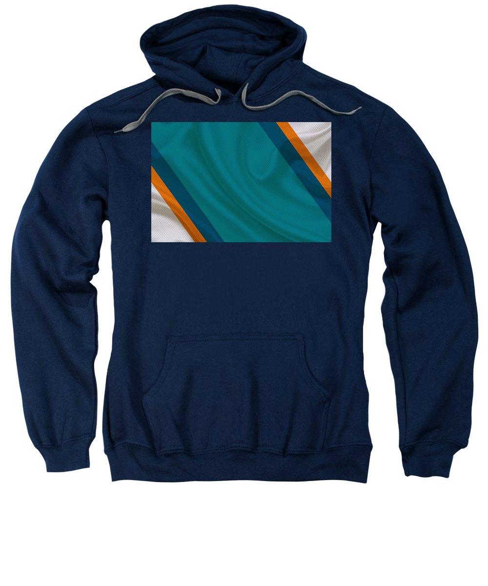 Dolphins Sweatshirt featuring the photograph Miami Dolphins by Joe Hamilton