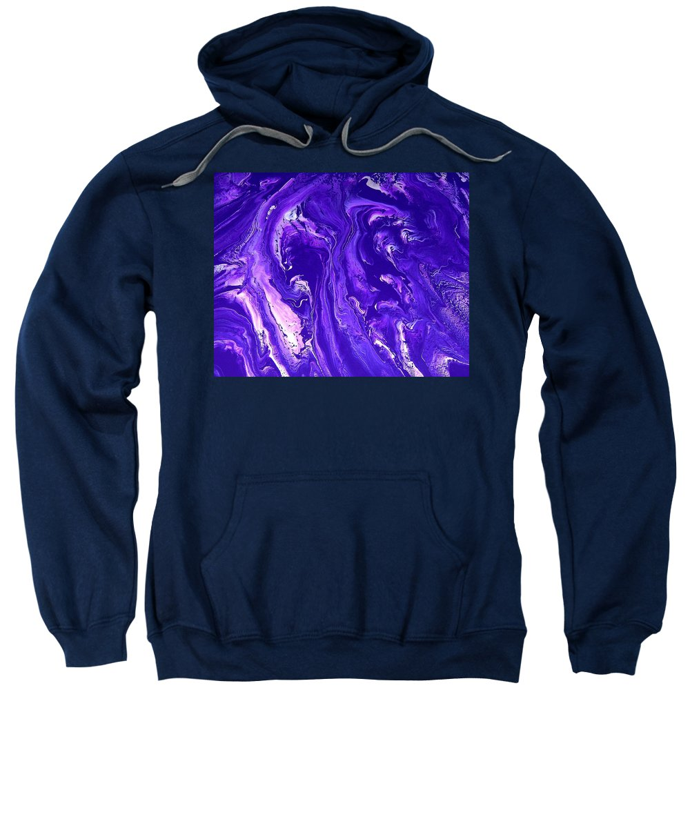 Original Sweatshirt featuring the painting Abstract 22 by J D Owen