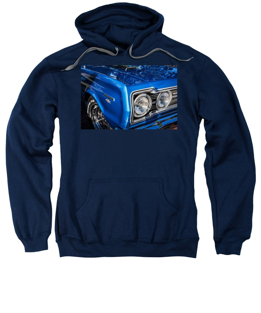 1967 Plymouth Sweatshirt featuring the photograph 1967 Plymouth Belvedere Gtx 440 Painted by Rich Franco