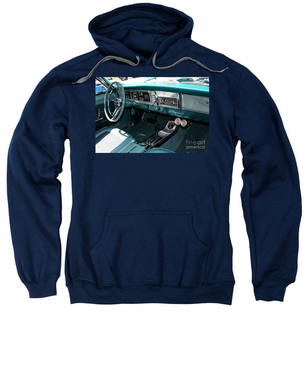 1965 Sweatshirt featuring the photograph 65 Plymouth Satellite Interior-8499 by Gary Gingrich Galleries