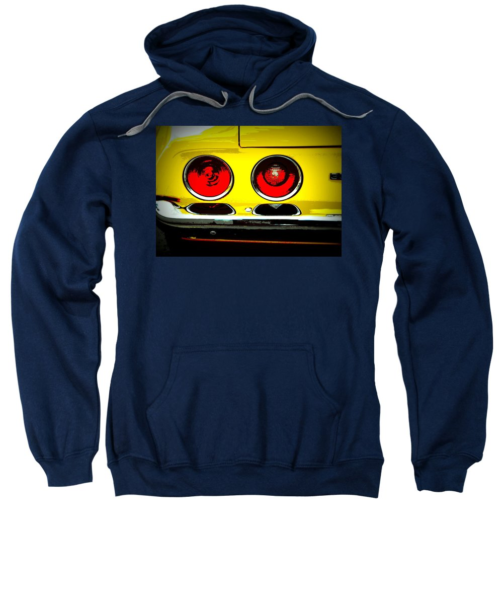 Muscle Car Sweatshirt featuring the photograph 71 Camaro Tail Lights by Guy Pettingell