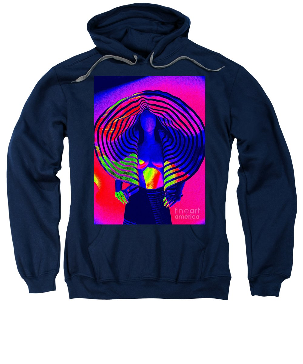 Fashion Sweatshirt featuring the digital art A Pop Of Gaultier by Ed Weidman