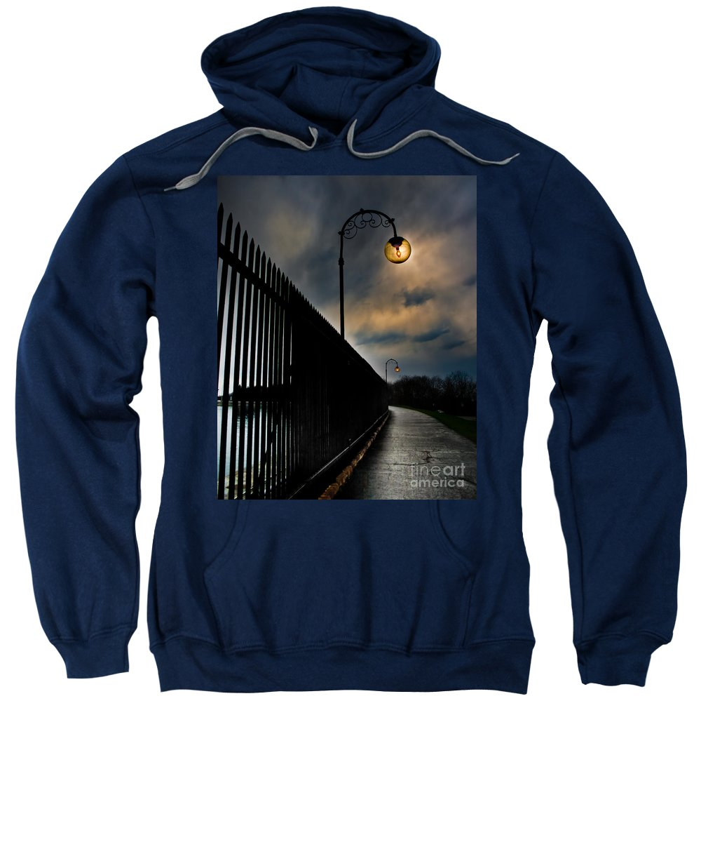 Sweatshirt featuring the photograph A Walk In The Park by Ken Marsh