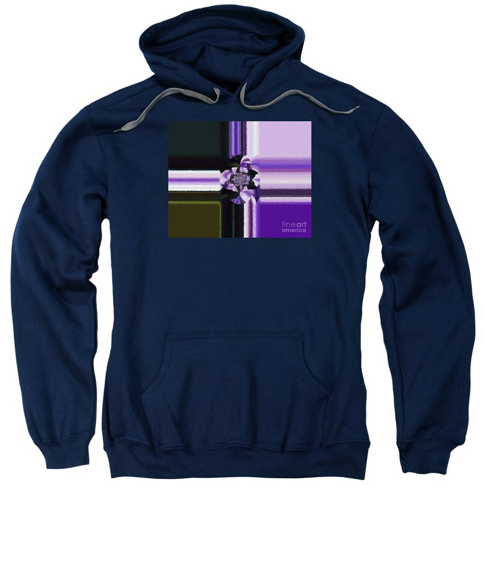 Barbara Griffin Sweatshirt featuring the digital art Abstract 115 by Barbara Griffin