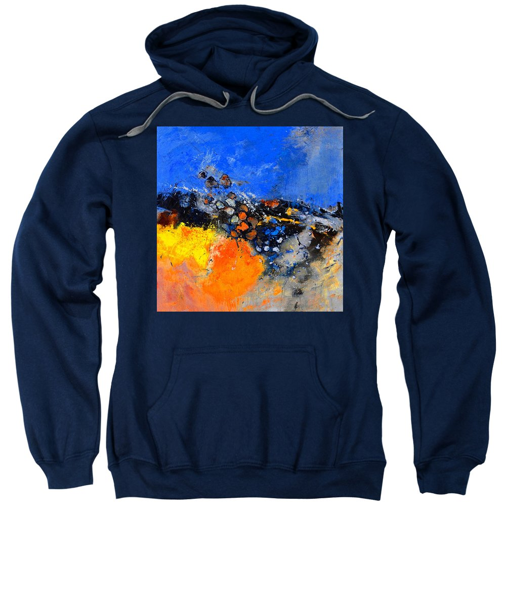 Abstract Sweatshirt featuring the painting Abstract 88411133 by Pol Ledent