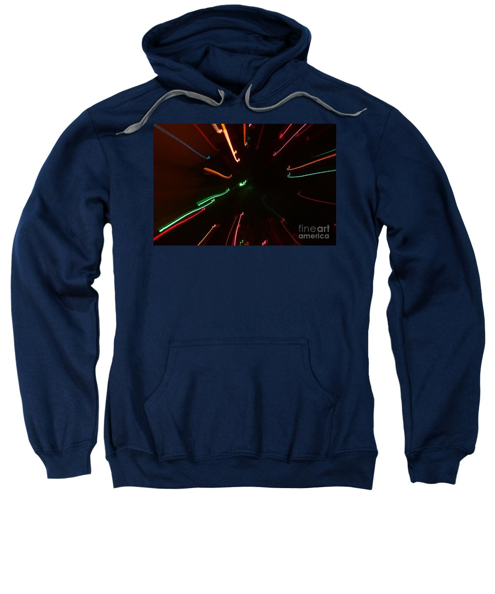 Motion Sweatshirt featuring the photograph Abstract Lights by Henrik Lehnerer