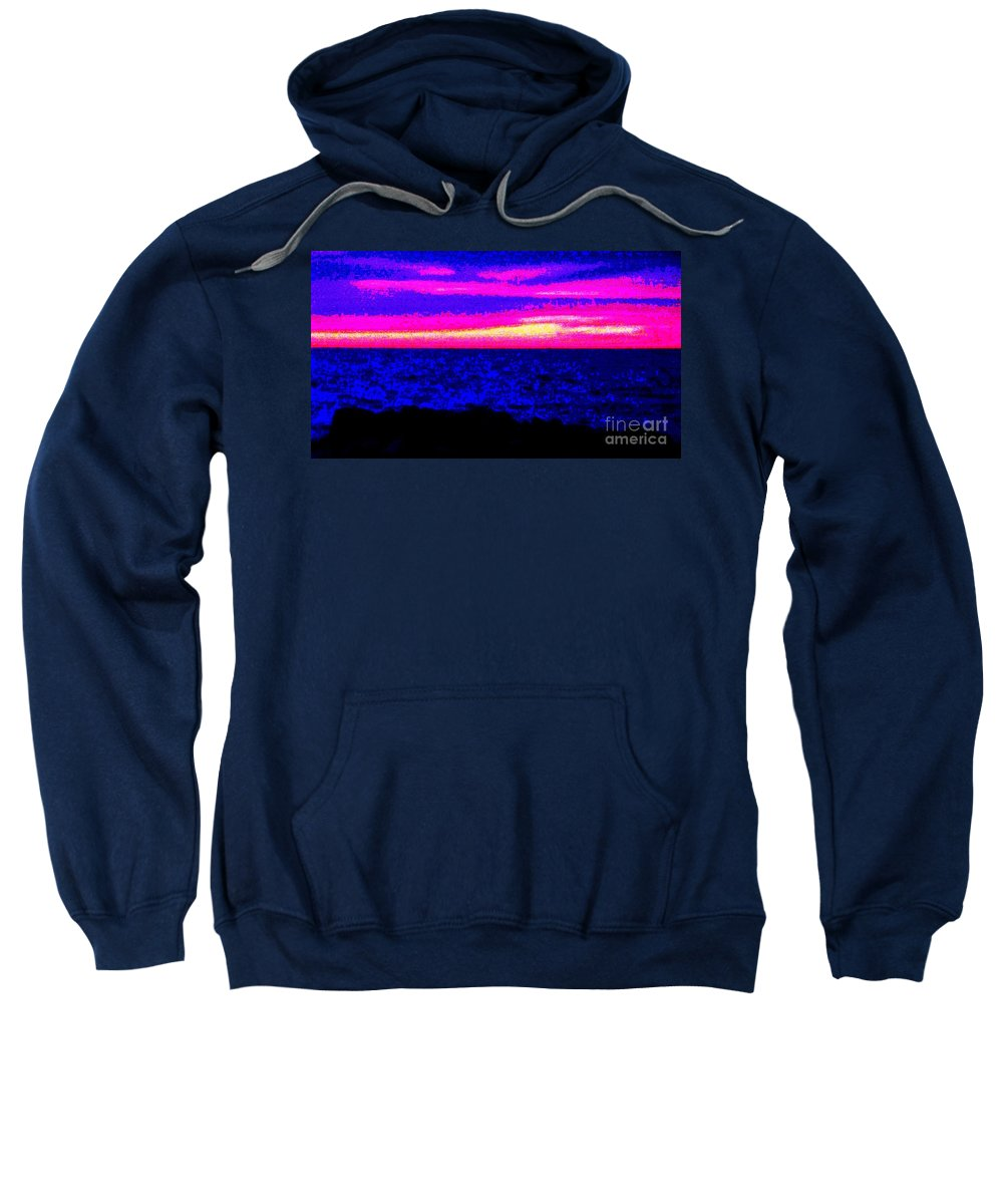 Abstract Sweatshirt featuring the photograph Abstract Seascape by Eric Schiabor