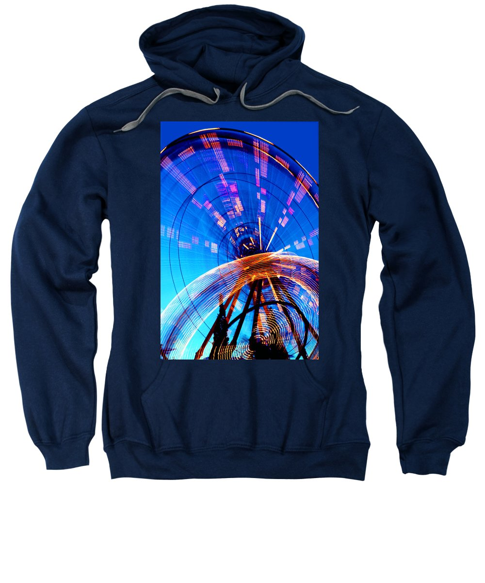 Amusement Park Sweatshirt featuring the photograph Amusement Park Rides 1 by Steve Ohlsen