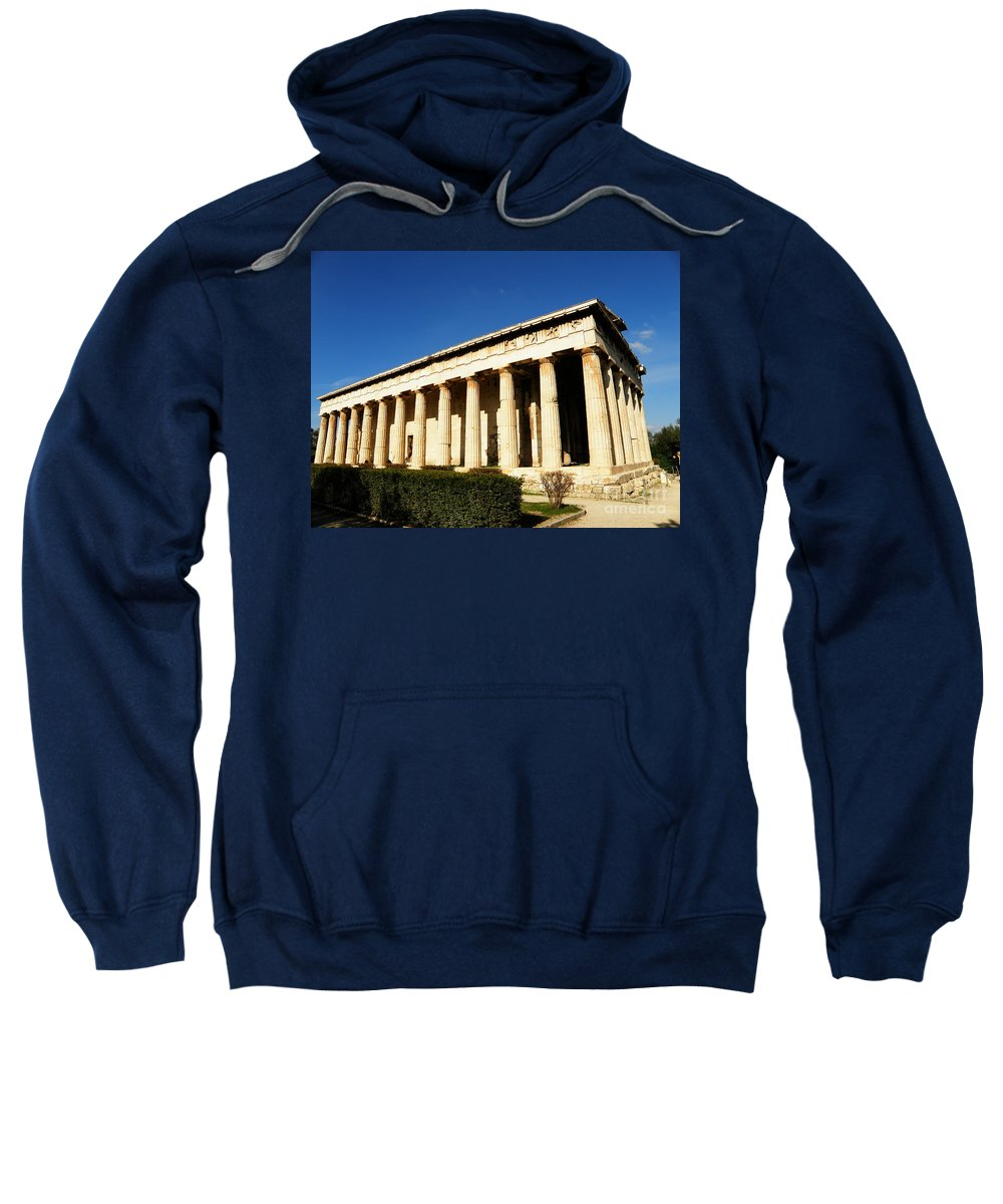 Landscape Sweatshirt featuring the photograph Ancient Agora Temple Of Hephaestus 3 by M Brandl