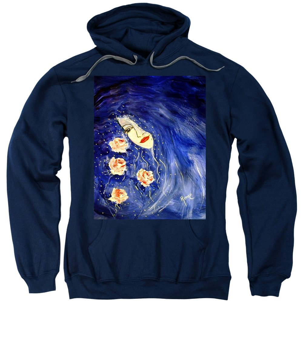 Love Sweatshirt featuring the painting And Her Love Grows... by Robin Monroe