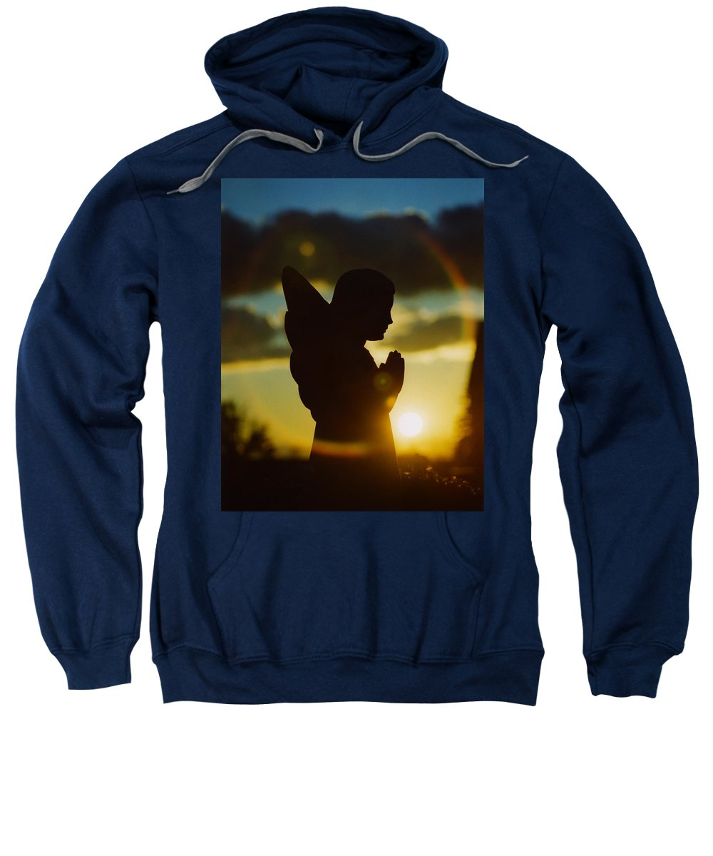 Angel Sweatshirt featuring the photograph Angel Silhouette by Gothicrow Images