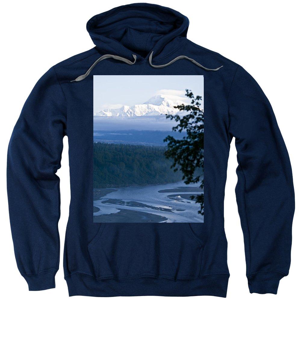 Denali Sweatshirt featuring the photograph Another Denali View by Tara Lynn
